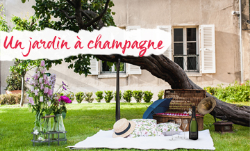 A 100% champagne garden in party Montmartre
