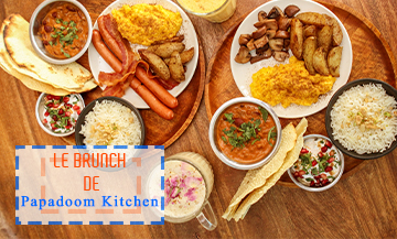 Brunch du restaurant indien aux Grands Boulevards