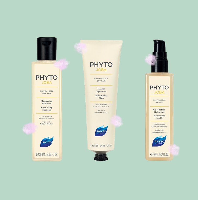 shampooing hydratant cheveux secs, gelee de soin hydratante cheveux secs et masque hydratant