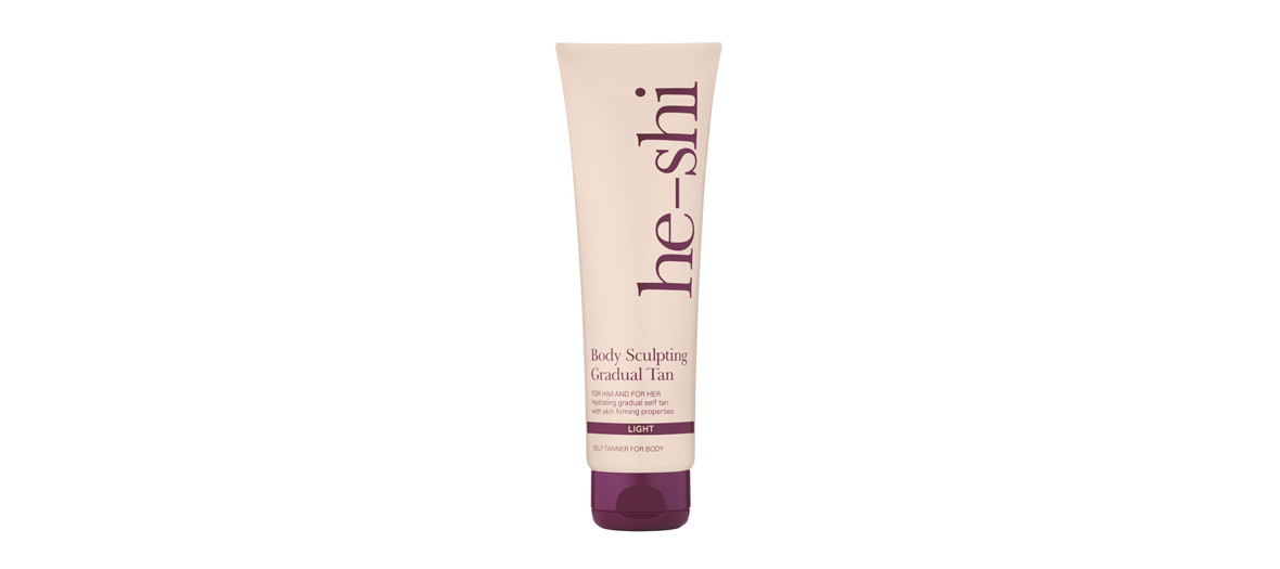 Body sculpting gradual tan He-Shi