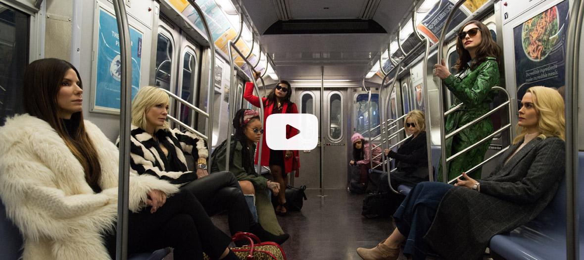 Extrait avec Anne Hathaway, Awkwafina, Cate Blanchett, Helena Bonham Carter, Mindy Kaling, Rihanna, Sandra Bullock et Sarah Paulson