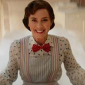 Emily Blunt dans le role de Mary Poppins dans le film le retour de Mary Poppins