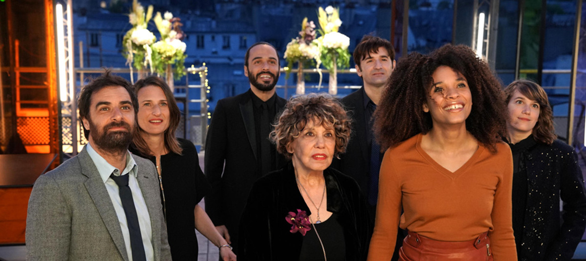 Portrait of actors Gregory Montel, Camille Cottin, Liliane Rovere, Stefi Celma and Nicolas Maury in the Ten Percent series