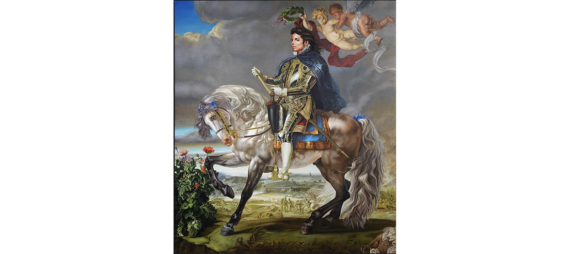 Peinture portrait de Michael Jackson