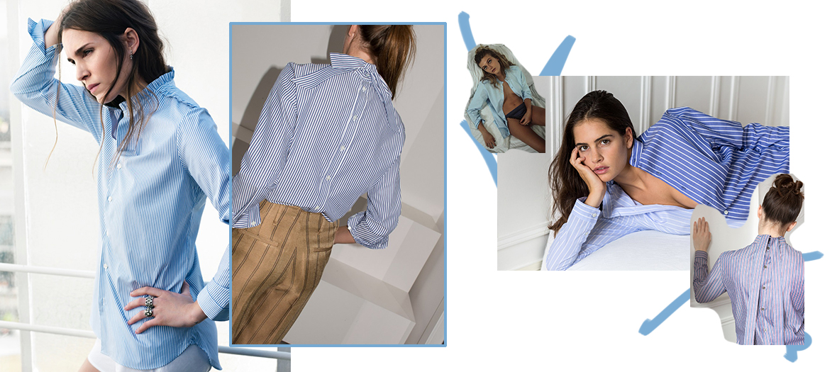 Chemises Bleues féminine et confortable de marie marot