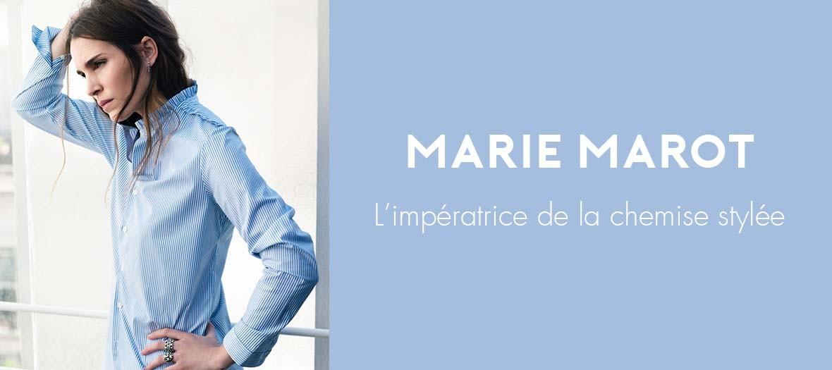 Portrait de Marie Marot creatrice des Chemises Marie Marot