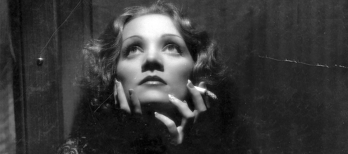 photo en noir et blanc de Marlene Dietrich