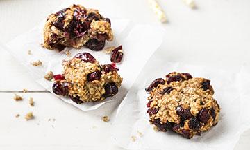 Des petits cookies sans gluten aux cranberries