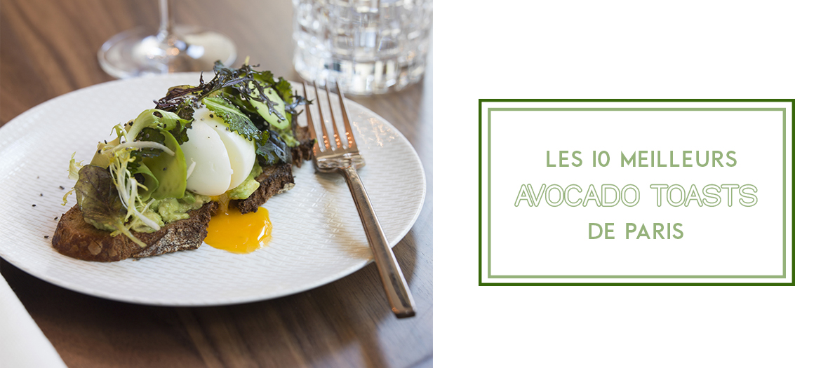 Avocado Toasts of the restaurant Odette in Paris