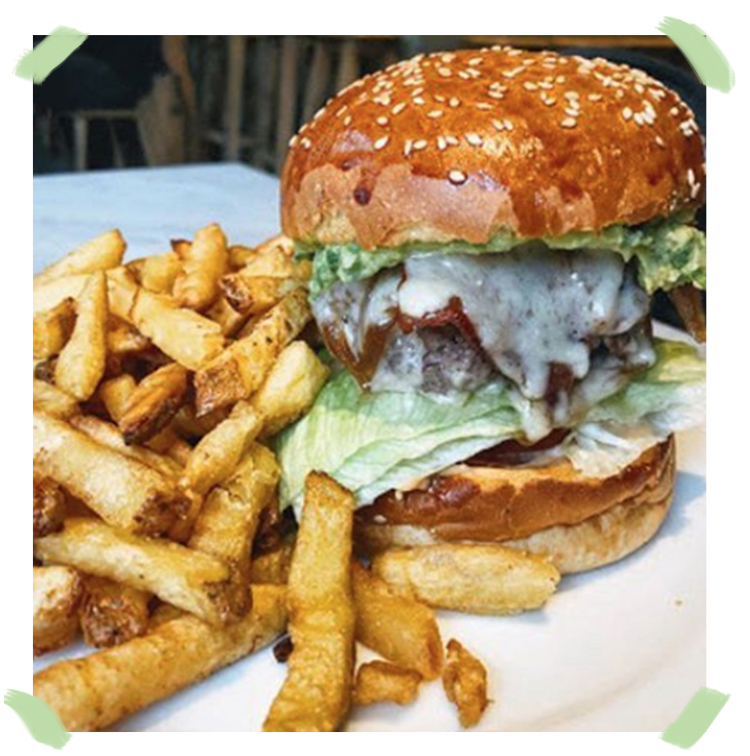Burger of Cantine California in Paris
