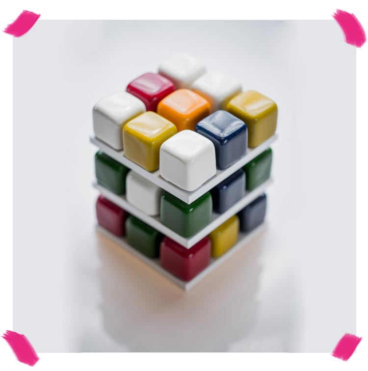 The Rubixcubes birthday cake of Cédric Grolet