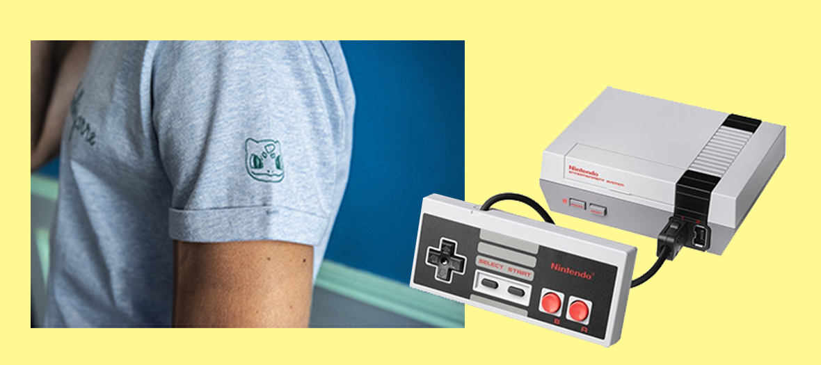 T-shirt Bulbizarre et PlayStation mini