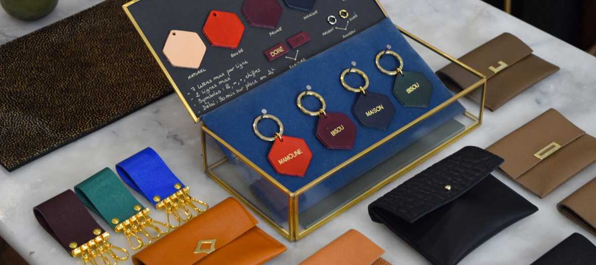 Fauvette customizable leather keychain