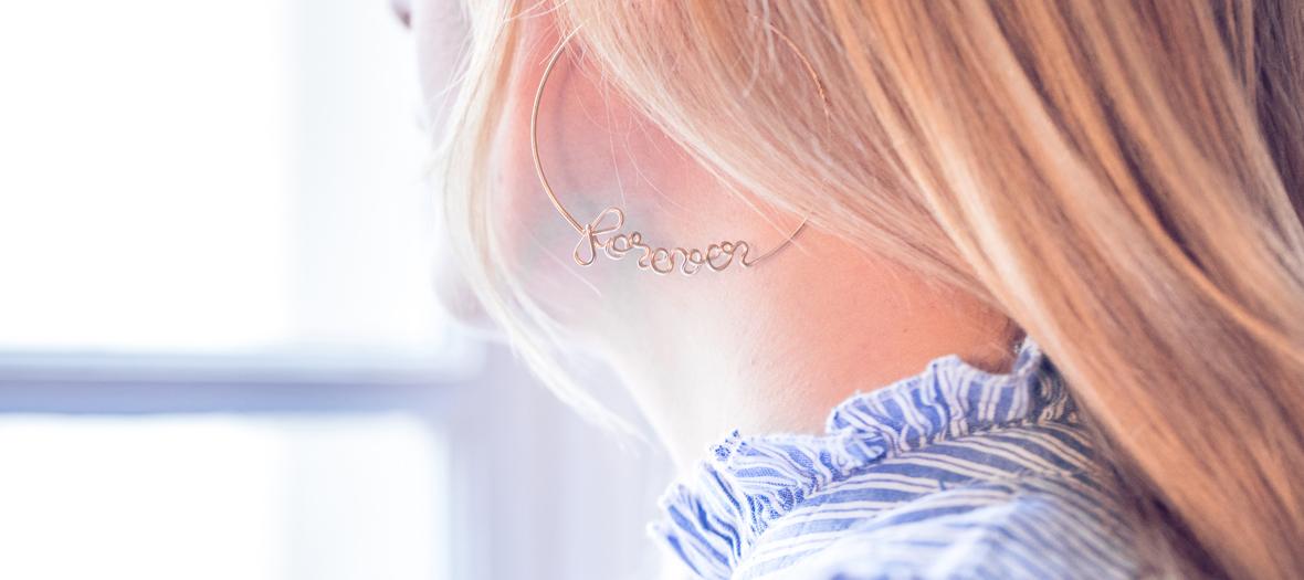 Atelier Paulin Créoles Personalized earrings