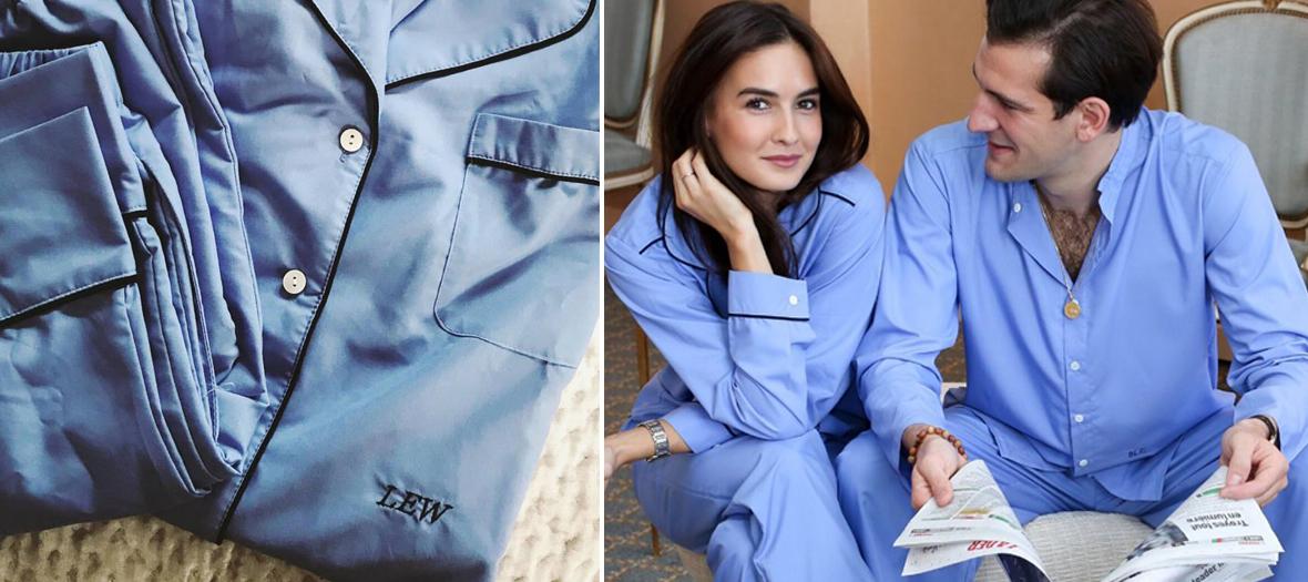 Pajama embroidered and customizable Piu Lifestyle