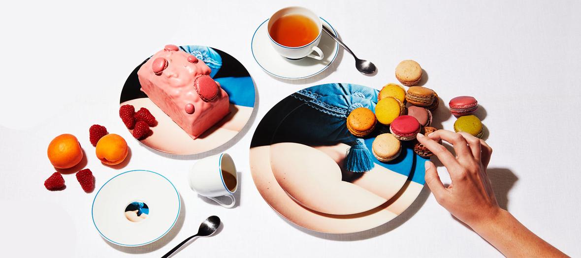 Porcelaines de Sonia Sieff de la Maison Fragile