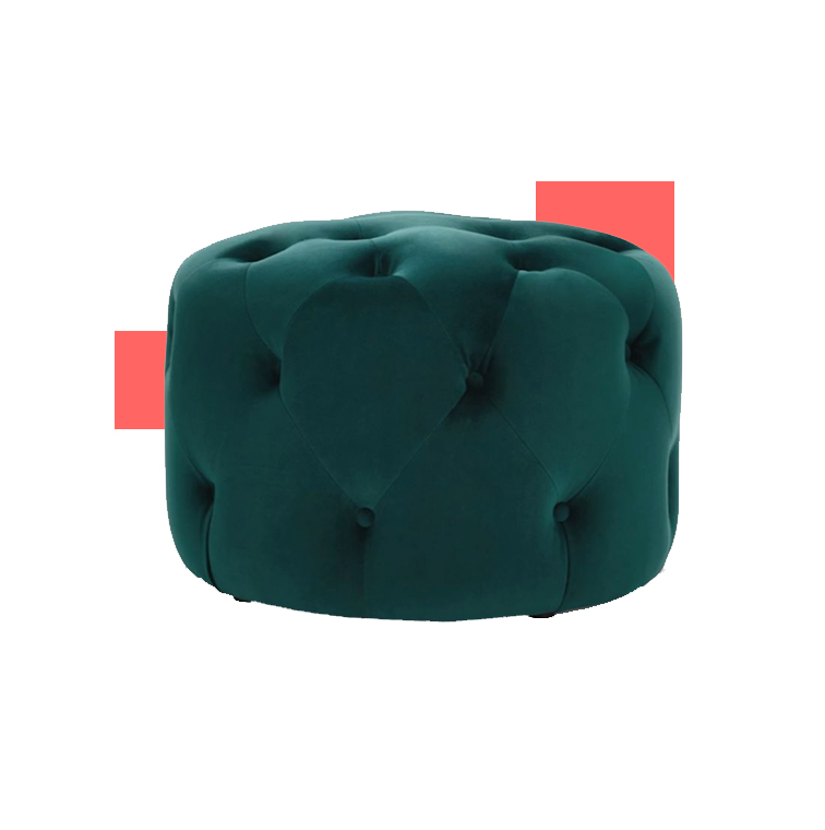 Mini pouf molletoné