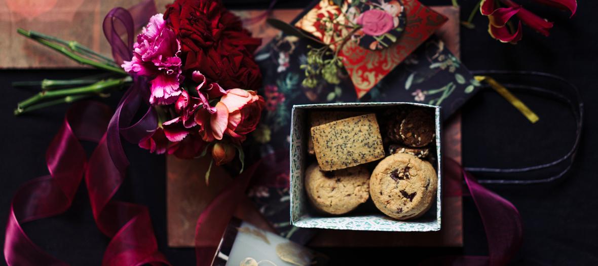 Bouquet et paquet cadeau customisé