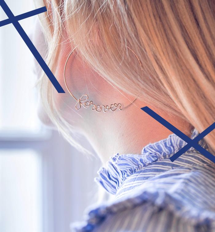Boucles d'oreilles créole à message