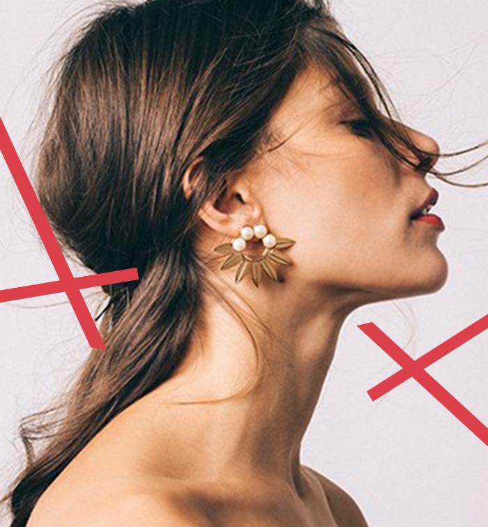 Boucles d'oreilles en forme de fleurs avec perles