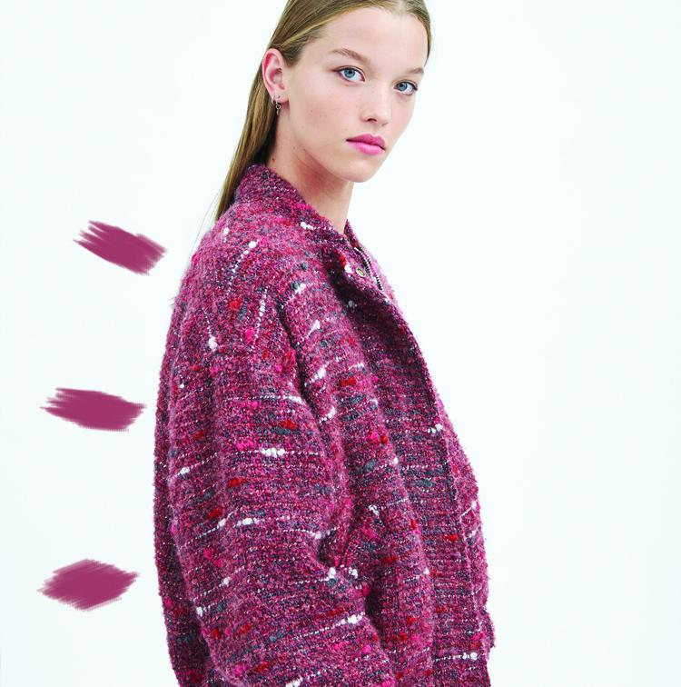 Bomber en tweed