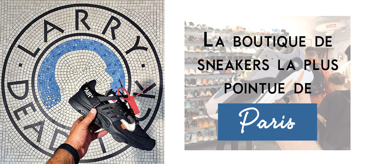 Boutique de sneakers a Paris