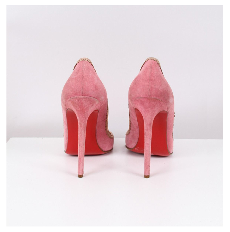 Stilettos louboutin roses chez dress in the city