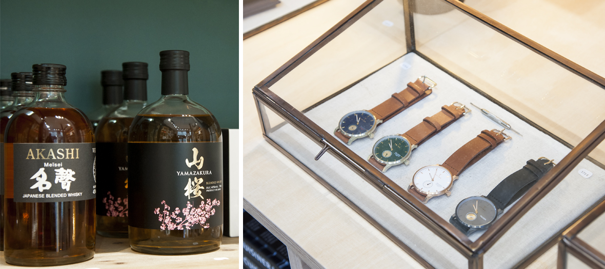 Men products from Les raffineurs including japonese whisky and watches