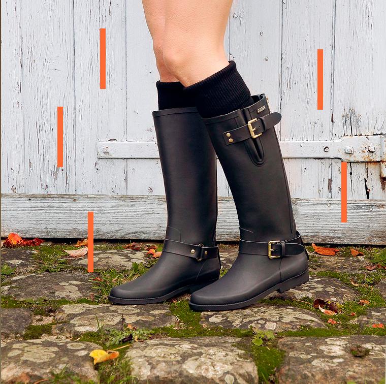 Bottes de pluie étanches Juliette Noire