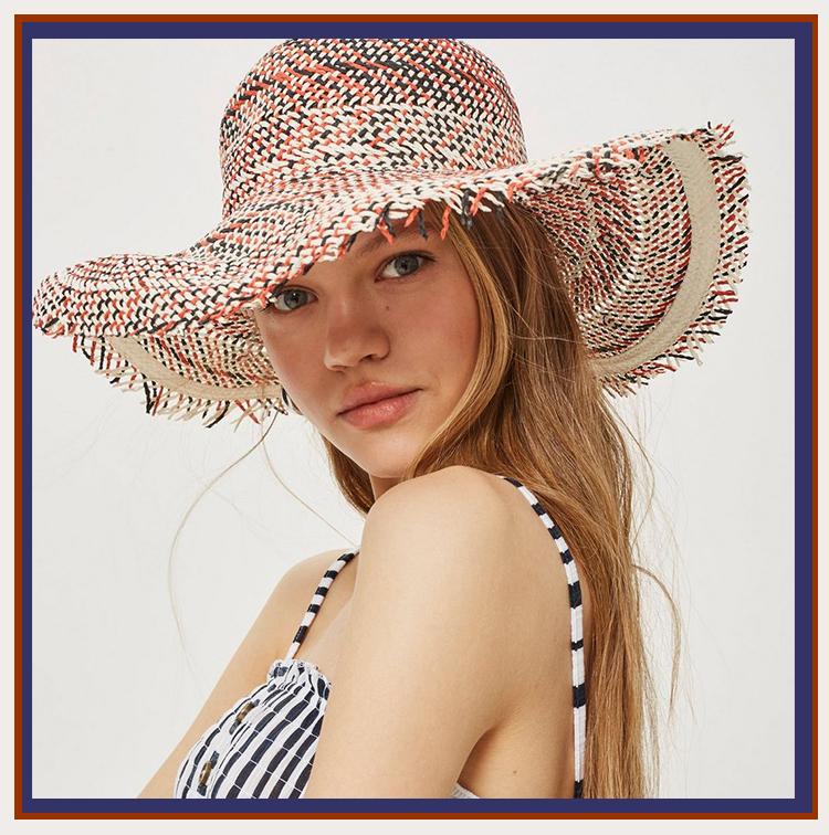 chapeau de paille coloré