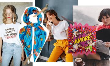 1 t-shirt + 1 foulard, le combo stylé de l'automne