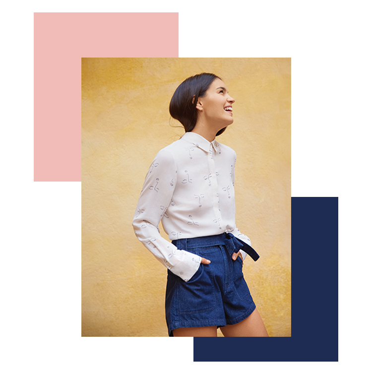 Short en jean avec ceinture