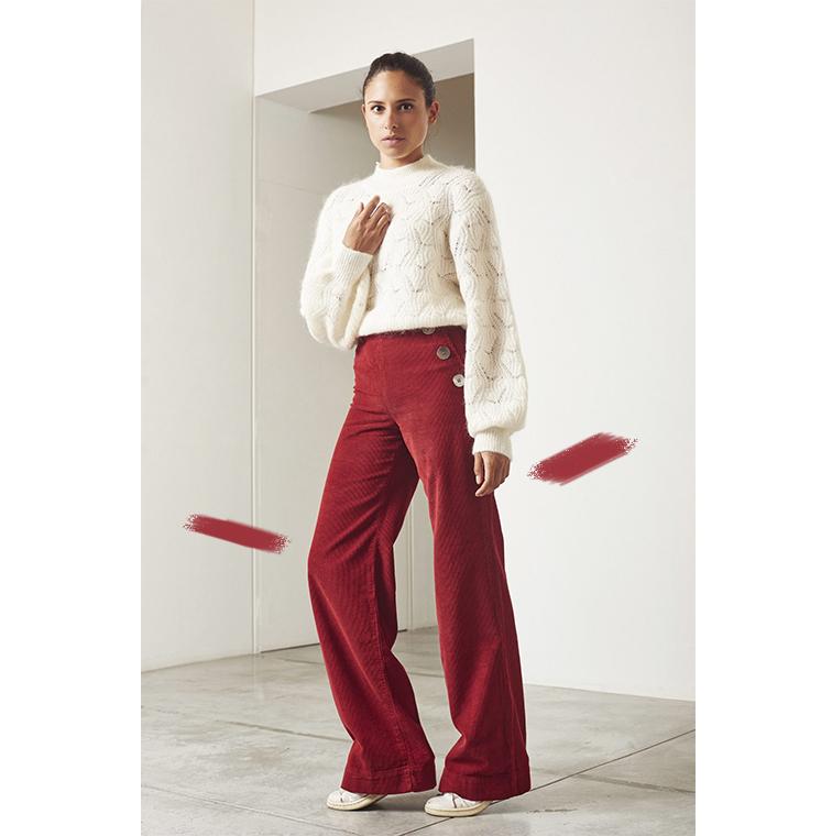 Pantalon en coton rouge
