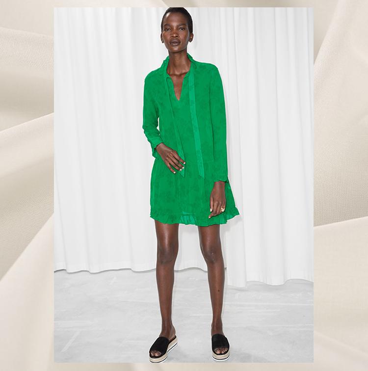 Mini robe verte