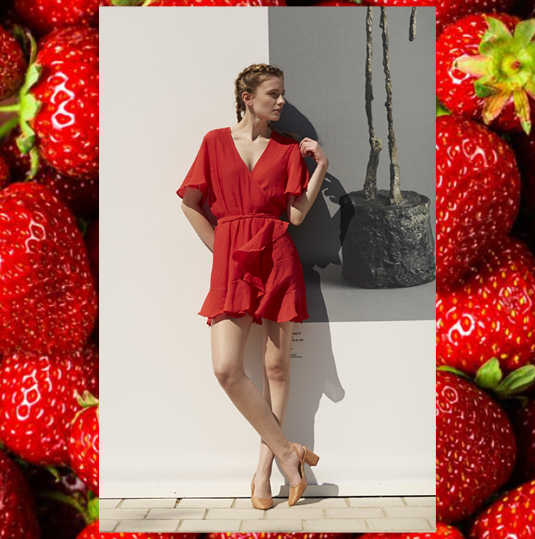 Robe portefeuille rouge