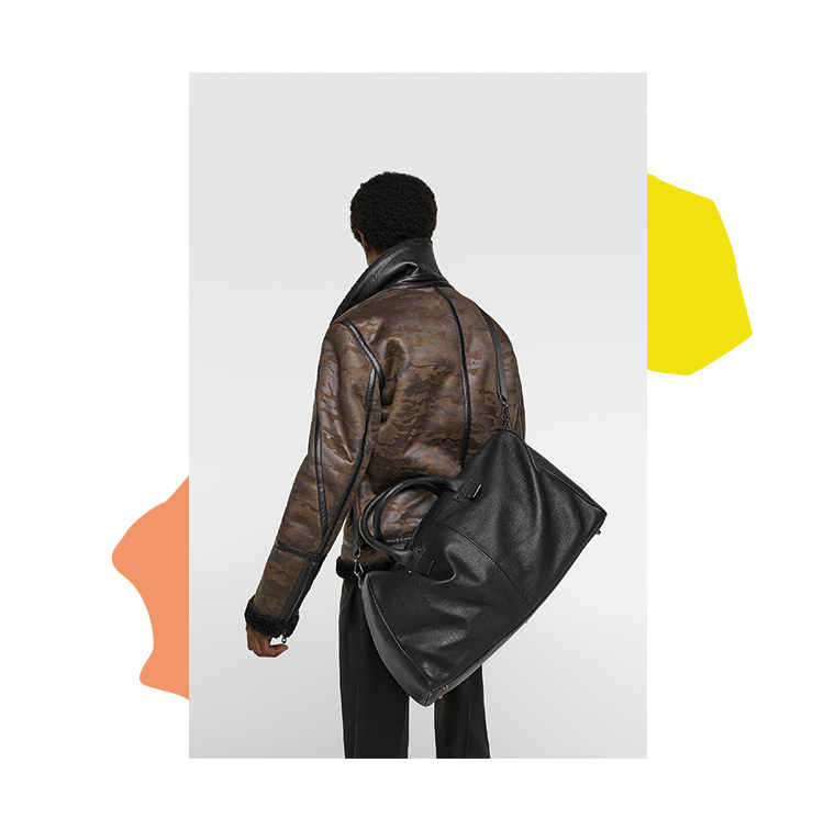 sac bowling en cuir noir