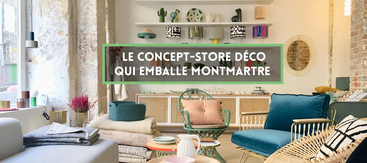 Concept store déco à Montmartre