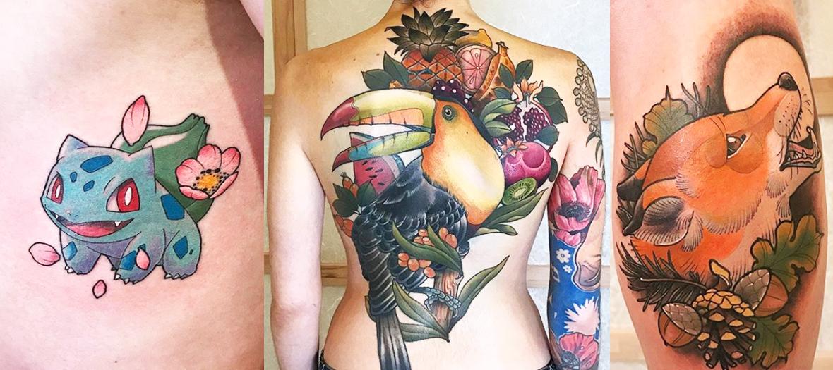 Tatouages de Loïck Mori chez Unique Horn Tattoo
