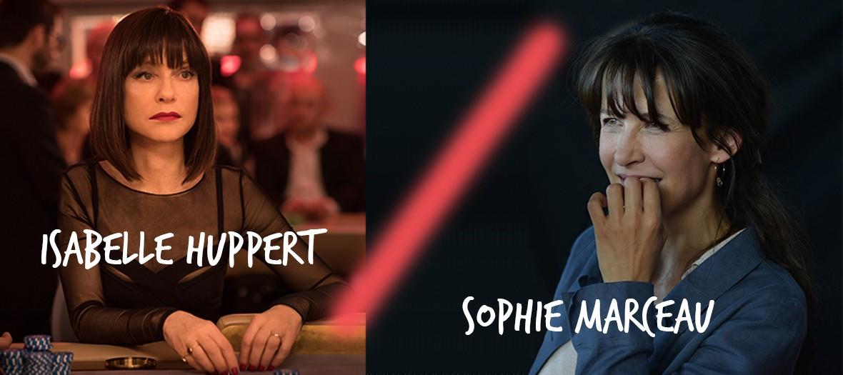 Isabelle Huppert et Sophie Marceau