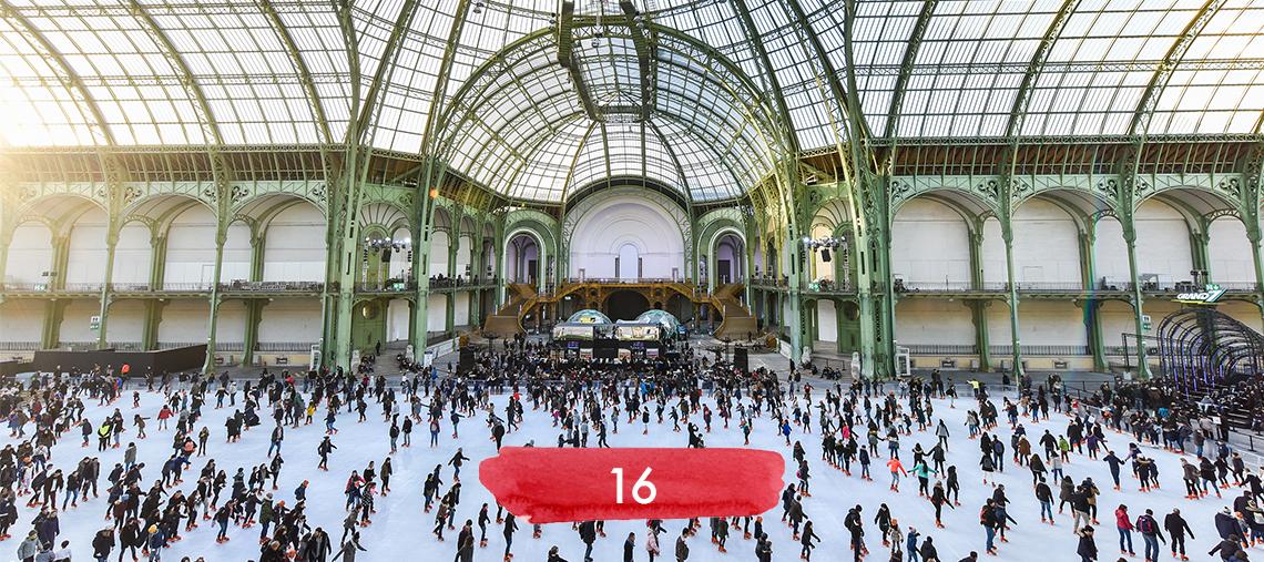 Une patinoire géante et des hot-dogs au Grand Palais.