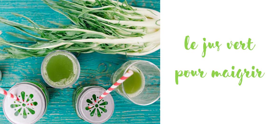 Recette jus vert pour maigrir