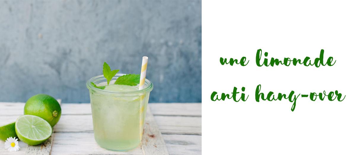 Recette limonade anti hangover