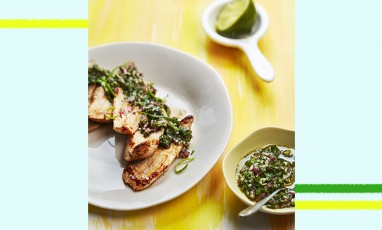 Veal aiguillettes with a chimichurri sauce by Juan Arbelaez
