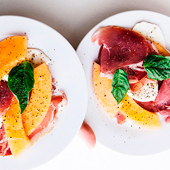 Recette de melon et jambon sec