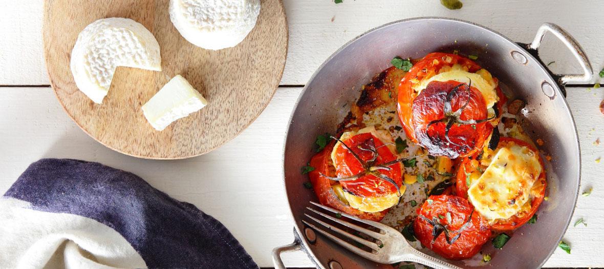 Recette tomates farcies veggies au chèvre
