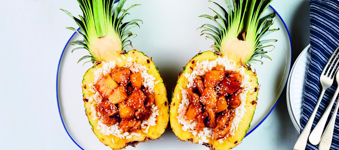 Recette d'ananas au poulet
