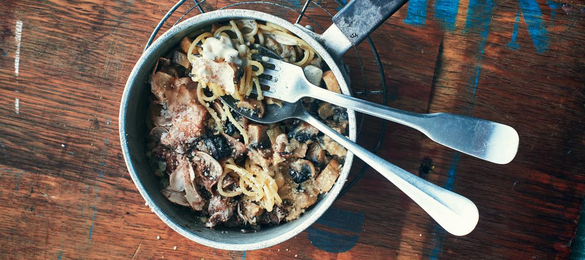Recette Spaghetthi Champignon