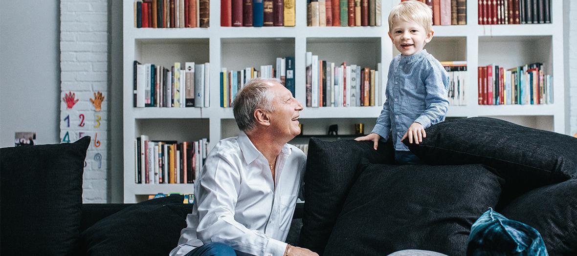 Eric Frechon avec son fils