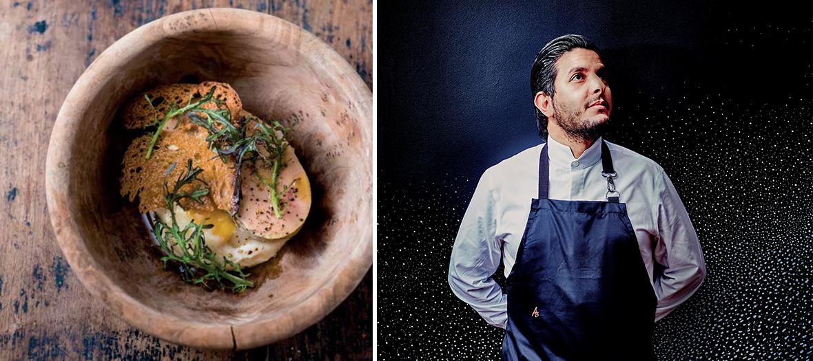 Plat avec foie gras du chef Akrame