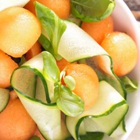 Salade Melon Courgette